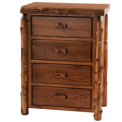 Rent to own Traditional Cedar Log 4 Drawer Ches...