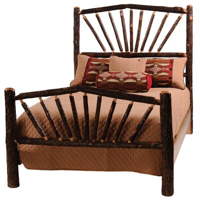 Bad credit financing Hickory Slat Bed Size: Queen, Finis...