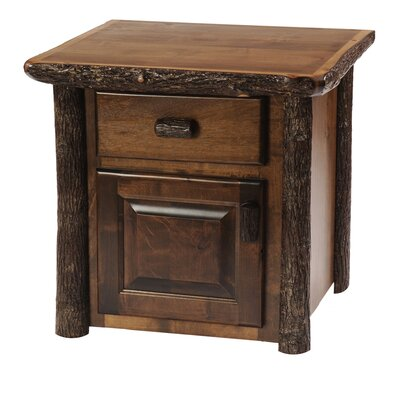 Cheap Fireside Lodge Hickory Enclosed End Table in Espresso (FDL1877)