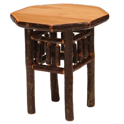 Cheap Fireside Lodge Hickory Octagon End Table Finish: Traditional (FDL1878_6329004)