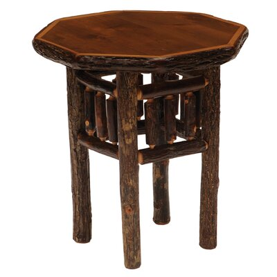 Hickory Octagon End Table Color: Espresso