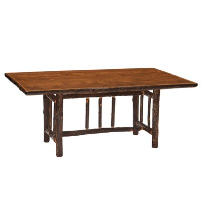 Hickory Rectangle Dining Table Finish: Rustic Maple with Standard, Size: 84 inch W x 42 inch D x 30 inch H