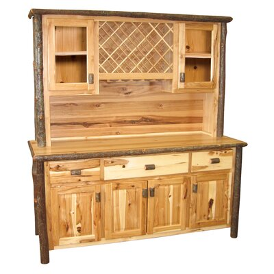 Hickory China Cabinet Finish: Rustic Maple, Configuration: With Wine Rack