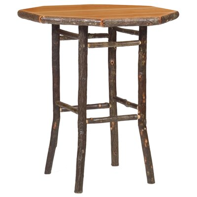 Hickory Pub Table Color: Rustic Maple, Tabletop Size: 42 H x 40 W x 40 D