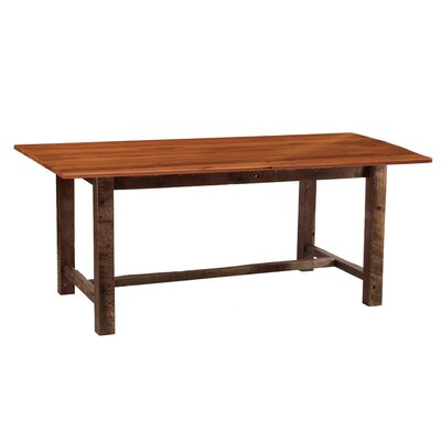 Reclaimed Barnwood Rectangle Dining Table Size: 84 W x 42 D x 30 H, Color: Antique Oak