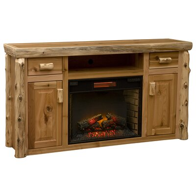 Cedar 65 TV Stand with Fireplace