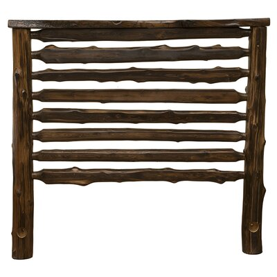 Modern Cedar Log Slat Headboard Size: California King