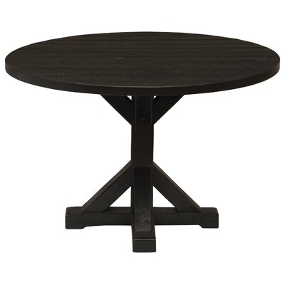 Frontier Pedestal Dining Table Color: Midnight, Size: 30 H x 48 W x 48 D