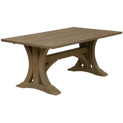 Frontier Cathedral Dining Table Table Color: Driftwood, Table Size: 30 H x 84 W x 42 D