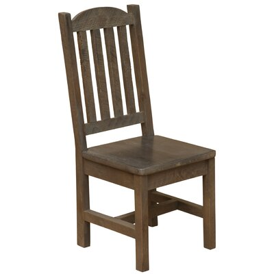 Frontier Cathedral Solid Wood Dining Chair Color: Driftwood