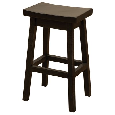 Frontier 24 Bar Stool Color: Midnight