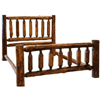 Traditional Cedar Log Slat Bed Color: Vintage Cedar, Size: California King