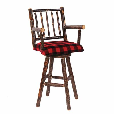 Hickory 24 Swivel Bar Stool Color: Rustic Maple