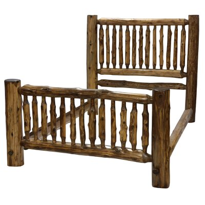 Traditional Cedar Log Panel Bed Size: Queen, Color: Vintage Finish