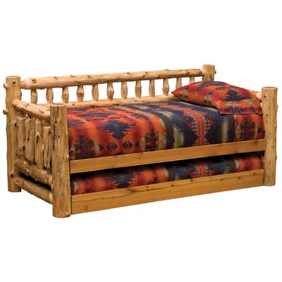 Traditional Cedar Log Daybed Accessories: None, Color: Vintage Finish