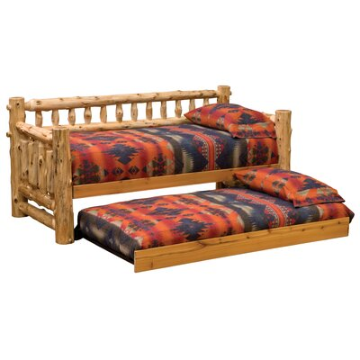 Traditional Cedar Log Daybed Accessories: Trundle, Color: Traditional