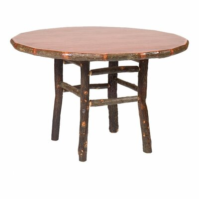 Hickory Dining Table Color: Traditional with Standard, Size: 48 W x 30 H