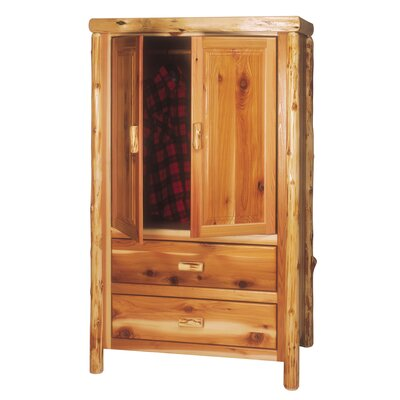 Traditional Cedar Log Armoire Finish: Vintage with Premium Drawers