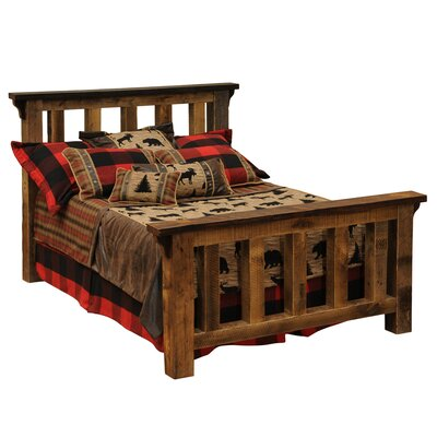 Barnwood Panel Bed Size: King