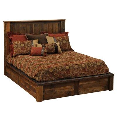 Fireside Lodge Cal King Traditional Barnwood Platform Bed