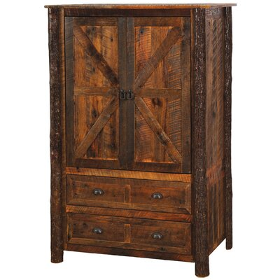 Barnwood Armoire Leg Style: Hickory Legs, Type: Value Drawers