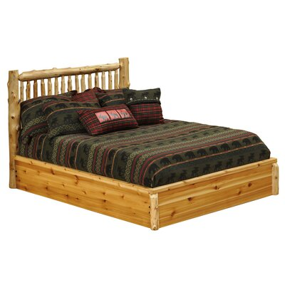 Cedar Platform Bed Finish: Traditional Cedar, Size: California King