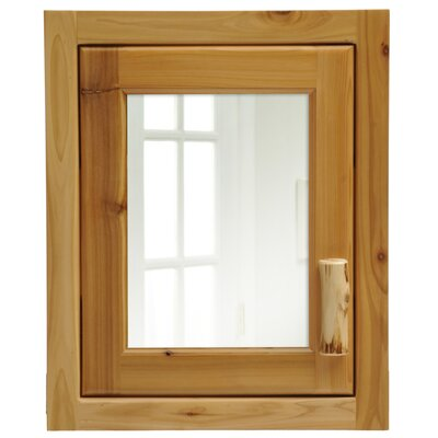 Cedar 18 x 22 Recessed Medicine Cabinet Orientation: Right