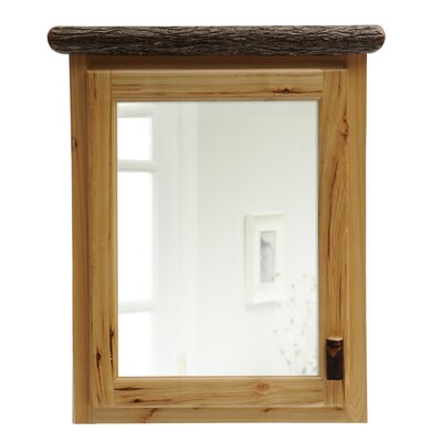 Hickory 33 x 32 Recessed Medicine Cabinet Orientation: Left, Finish: Rustic Alder