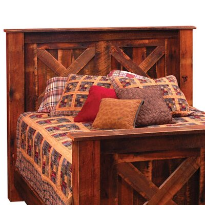 Reclaimed Barnwood Headboard Size: Full