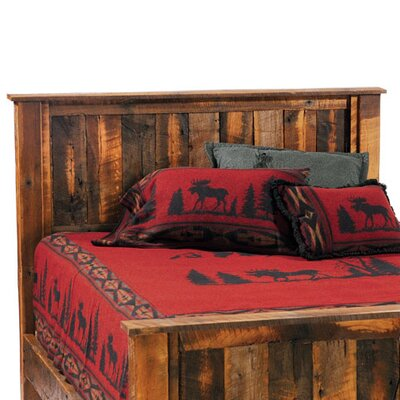 Reclaimed Barnwood Panel Headboard Size: Twin