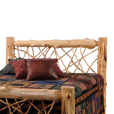 Traditional Cedar Log Wood Headboard Size: Queen, Color: Vintage Finish