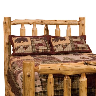 Traditional Cedar Log Slat Headboard Size: Queen, Finish: Regular