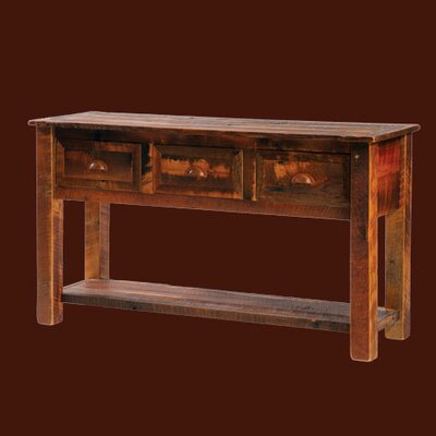 Reclaimed Barnwood Three Drawers Console Table
