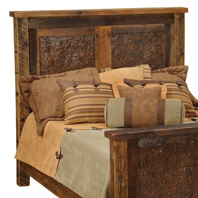 Furniture financing Barnwood Inset Copper Headboard Siz...