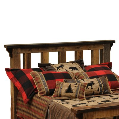 Barnwood Slat Headboard Size: California King