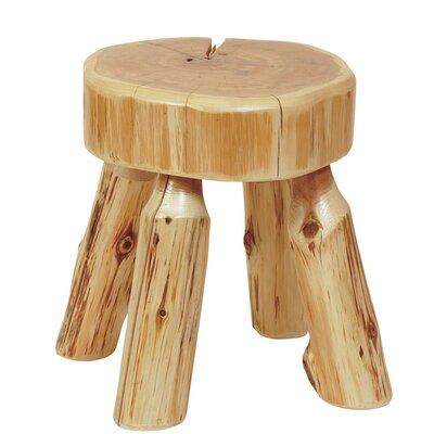 Traditional Cedar Log Ottoman