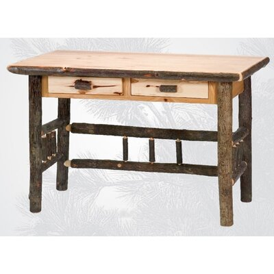 Hickory 2 Drawer Writing Desk Finish: Traditional Product Picture 48