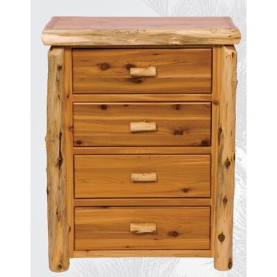 Traditional Cedar Log 4 Drawer Chest Finish: Traditional with Value Drawers