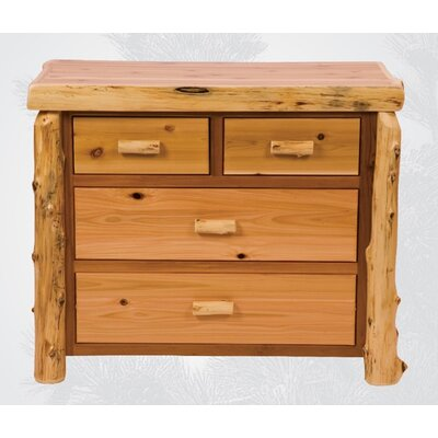 Financing for Traditional Cedar Log 4 Drawer Dres...