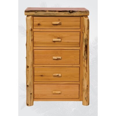Loan for furniture Traditional Cedar Log 5 Drawer Ches...