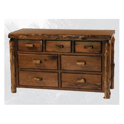 Furniture financing Traditional Cedar Log 7 Drawer Dres...
