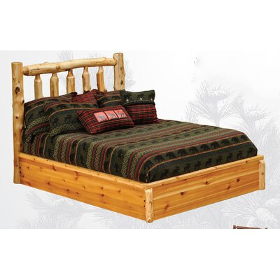Cedar Platform Bed Color: Vintage Cedar, Size: California King