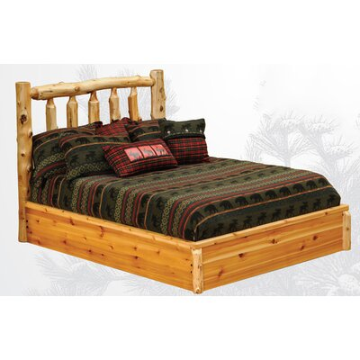Cedar Platform Bed Color: Vintage Cedar, Size: Queen