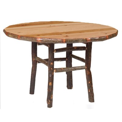 Hickory Dining Table Finish: Rustic Alder with Standard, Size: 42 W x 30 H