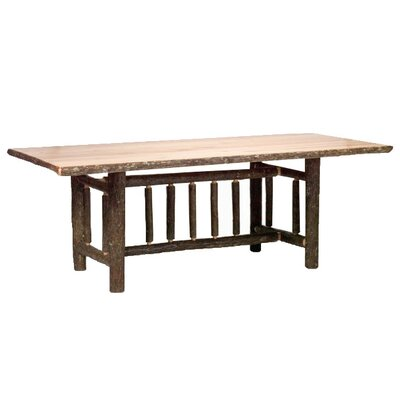 Hickory Rectangle Dining Table Color: Traditional with Standard, Size: 60 W x 42 D x 30 H
