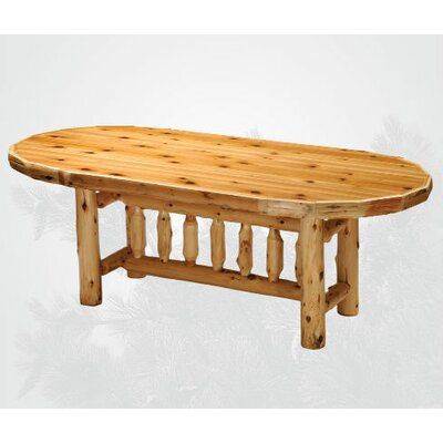 Traditional Cedar Log Oval Dining Table Color: Standard, Size: 60 W x 30 H