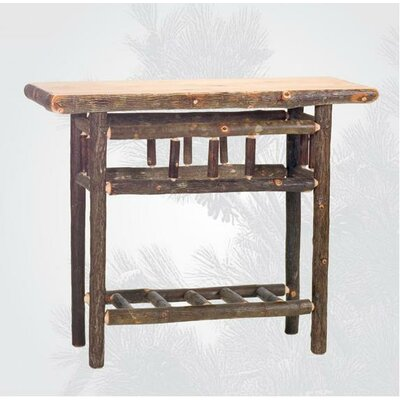 Hickory Open Console Table Finish: Rustic Maple