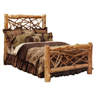Traditional Cedar Log Panel Bed Size: King, Finish: Traditional