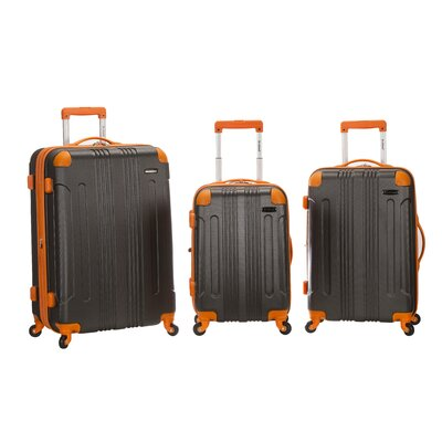 Rockland 3 Piece Luggage Set - Color: Charcoal