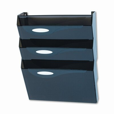 Classic Hot File Wall File Systems, Letter, Four Pockets, Smoke